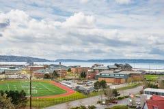 Sjö- station Everett Washington arkivbild