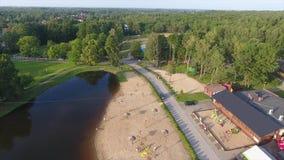 Sjö Strand flyg- sikt Skogsurr lager videofilmer