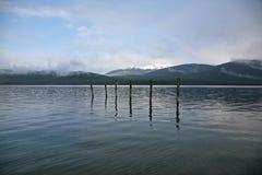 Sjö Te Anau från stranden i Te Anau Royaltyfria Foton