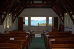 Sjö Tekapo, kyrka av den bra herden Fotografering för Bildbyråer