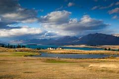 Sjö Tekapo, Nya Zeeland Royaltyfri Fotografi