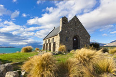 Sjö Tekapo, Nya Zeeland Arkivbild
