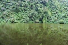 Sjö Telaga Warna i Puncak, Indonesien Arkivbilder