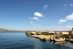 Sjö Titicaca i Peru, Sydamerika Fotografering för Bildbyråer
