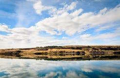 Sjö-torr nedgångdelstatspark för sol royaltyfria foton