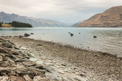 Sjö Wakatipu för morgonmistove Royaltyfria Bilder