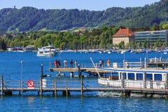 Sjö Zurich i Schweiz Royaltyfri Foto