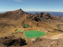 Sjöar i den Tongariro korsningen, Nya Zeeland Arkivfoto