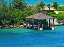Sjöbod i Nassau royaltyfri bild