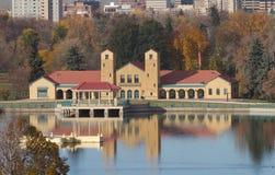 Sjöbod och Lake i Denver Fotografering för Bildbyråer