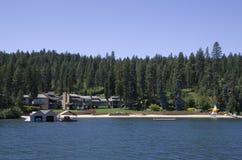 SjöCoeur dAlene Idaho nära Spokane Washington Arkivbilder