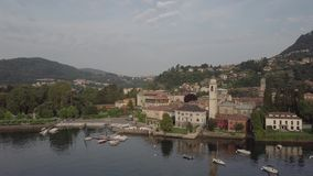 SjöComo Italien bästa sikt stock video
