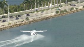Sjöflygplan i Miami stock video