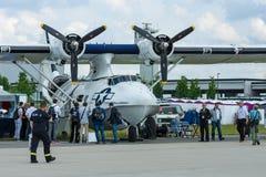 Sjöflygplanet för den maritima patrullen och sökande-och-räddningsaktionen konsoliderade PBY Catalina (PBY-5A) Royaltyfria Bilder