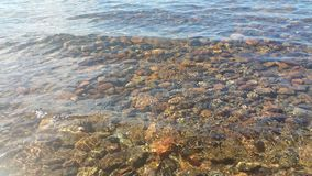 Sjöfrikändvatten Gör en härlig sten under Royaltyfri Bild