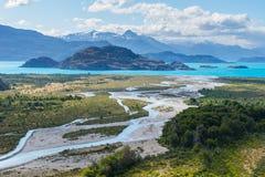 Sjögeneral Carrera i Chile Royaltyfri Fotografi
