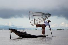 SjöInle fiskare Royaltyfri Fotografi