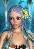 Sjöjungfru stock illustrationer