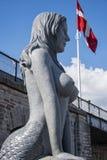 SjöjungfruKöpenhamn Arkivbild