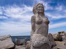 Sjöjungfruskulptur Fotografering för Bildbyråer
