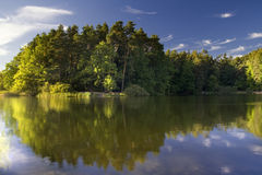Sjölandskap Arkivfoton