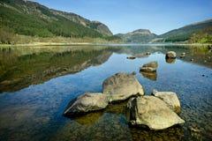 Sjölandskap, Skottland - Skotska högländerna Royaltyfri Bild