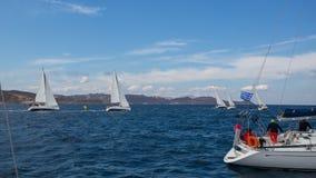 Sjömän deltar i seglingregatta 16th Ellada Arkivbilder