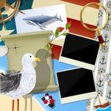 Sjömanscrapbookdesign Royaltyfri Fotografi
