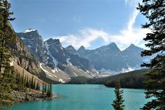 Sjömorän, Alberta, Kanada Royaltyfri Fotografi