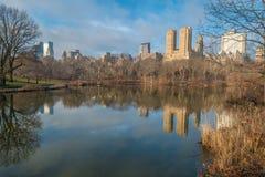 Sjön, Central Park, NYC Arkivfoton