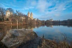 Sjön, Central Park, NYC Arkivbilder