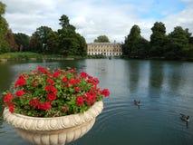 Sjön i Kew trädgårdar, London, UK Royaltyfri Bild