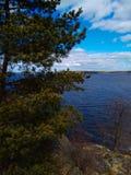Sjön i parkerar av den måndag reposen Vyborg Ryssland royaltyfri bild