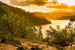 Sjön i Thüringen Royaltyfri Foto