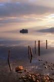Sjön på solnedgången Royaltyfri Bild