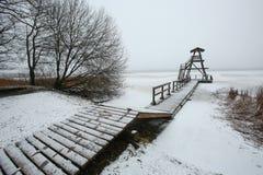Sjön Sloka, Riga, Lettland Arkivbild