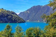 Sjön Urner ser - delen av Vierwaldstaetter se Arkivfoton
