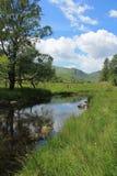 Sjöområdeslandskap lilla Langdale Cumbria Royaltyfri Bild