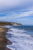 Sjösida ö av wighten, UK, England Royaltyfria Foton