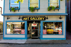 Sjösida Art Gallery, Newport, RI Arkivbilder