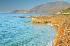 Sjösida av den Creta ön Royaltyfria Foton