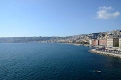 Sjösida av Naples, Italien Fotografering för Bildbyråer