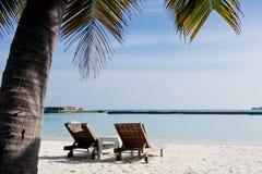 sjösida för strandliggandesemesterort Royaltyfria Foton