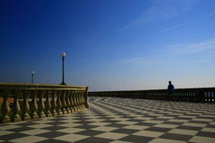 Sjösida i Livorno, Italien Royaltyfri Bild