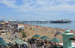Sjösida och strand på Brighton, östliga Sussex, England Royaltyfria Foton