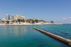 Sjösida Odessa, Arcadia, Ukraina, det faimous stället Arkivbilder