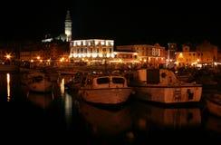 Sjösida på natten arkivbilder