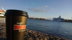 Sjösidakaffe Royaltyfri Bild
