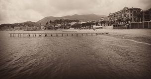 Sjösidalandskap av Santa Margherita Ligure, Italien Royaltyfri Fotografi