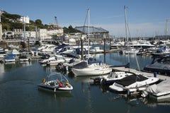 Sjösidan och marina i Torquay en Devon tillgriper UK Royaltyfri Fotografi